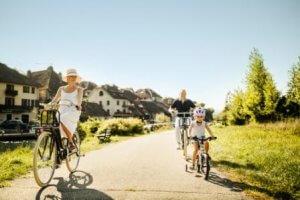 Balade en vélo sur la ViaRhôna - Chanaz