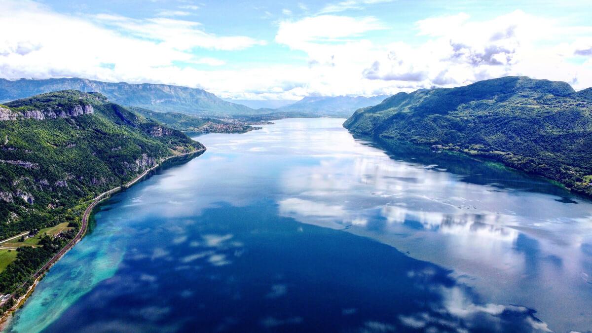 lac du Bourget vu de haut